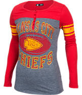 Women's New Era Kansas City Chiefs NFL Long-Sleeve Henley Shirt