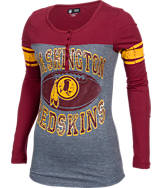 Women's New Era Washington Redskins College Long-Sleeve Henley Shirt