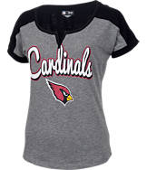 Women's New Era Arizona Cardinals NFL Pin Sleeve T-Shirt