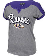 Women's New Era Baltimore Ravens NFL Pin Sleeve T-Shirt
