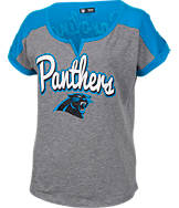Women's New Era Carolina Panthers NFL Pin Sleeve T-Shirt