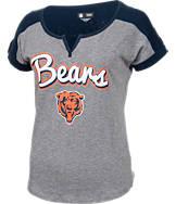 Women's New Era Chicago Bears NFL Pin Sleeve T-Shirt