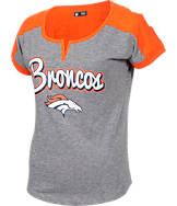 Women's New Era Denver Broncos NFL Pin Sleeve T-Shirt