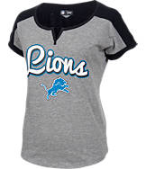Women's New Era Detroit Lions NFL Pin Sleeve T-Shirt