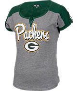 Women's New Era Green Bay Packers NFL Pin Sleeve T-Shirt