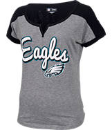 Women's New Era Philadelphia Eagles NFL Pin Sleeve T-Shirt