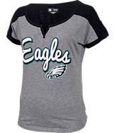 Women's New Era Philadelphia Eagles NFL Pin Sleeve T-Shirt
