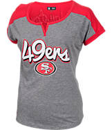 Women's New Era San Francisco 49ers NFL Pin Sleeve T-Shirt
