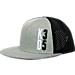 Front view of Nike KD Performance True Snapback Hat in Black/Dark Grey Heather