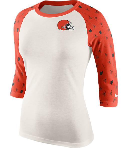 Women's Nike Cleveland Browns NFL Victory Raglan T-Shirt