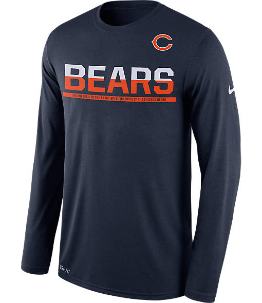 Men's Nike Chicago Bears NFL 2016 Long-Sleeve Practice Shirt