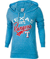 Women's New Era Texas Rangers MLB Tri-Blend Hooded T-Shirt