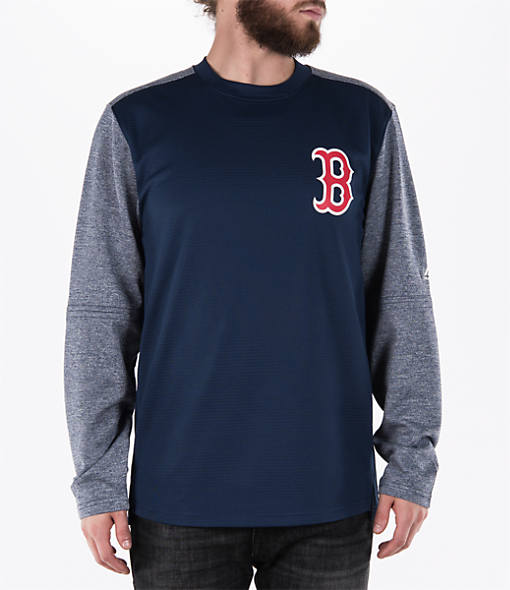 Men's Majestic Boston Red Sox MLB Tech Long-Sleeve Fleece Jacket
