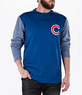 Men's Majestic Chicago Cubs MLB Tech Long-Sleeve Fleece Jacket