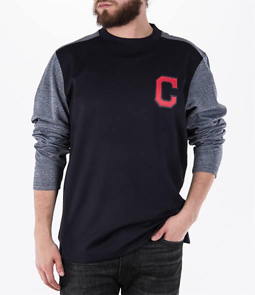Men's Majestic Cleveland Indians MLB Tech Long-Sleeve Fleece Jacket