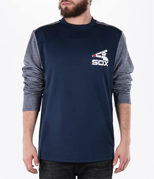Men's Majestic Chicago White Sox MLB Tech Long-Sleeve Fleece Jacket