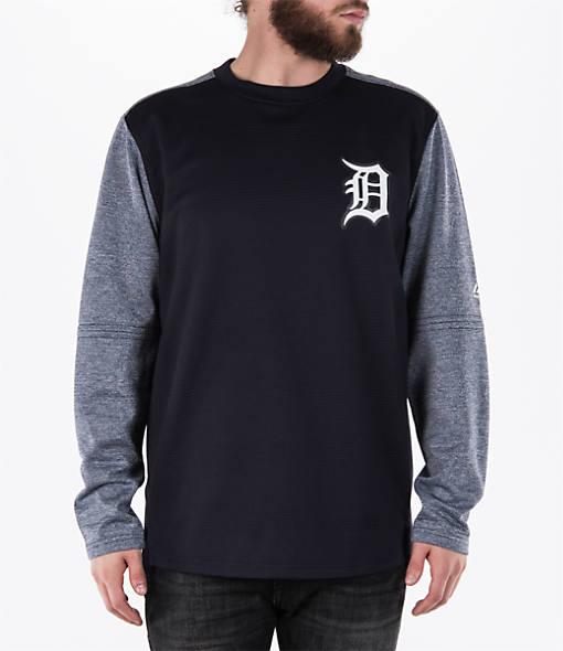 Men's Majestic Detroit Tigers MLB Tech Long-Sleeve Fleece Jacket