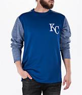 Men's Majestic Kansas City Royals MLB Tech Long-Sleeve Fleece Jacket