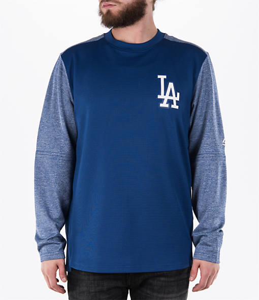 Men's Majestic Los Angeles Dodgers MLB Tech Long-Sleeve Fleece Jacket