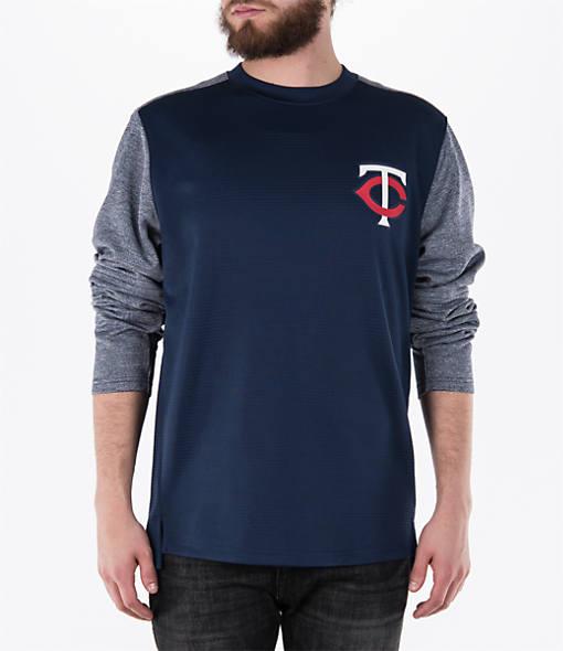 Men's Majestic Minnesota Twins MLB Tech Long-Sleeve Fleece Jacket