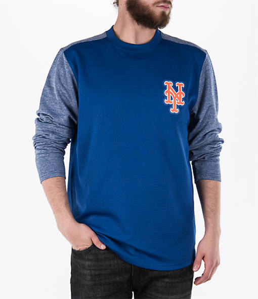 Men's Majestic New York Mets MLB Tech Long-Sleeve Fleece Jacket
