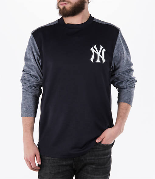 Men's Majestic New York Yankees MLB Tech Long-Sleeve Fleece Jacket