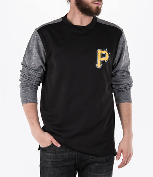 Men's Majestic Pittsburgh Pirates MLB Tech Long-Sleeve Fleece Jacket