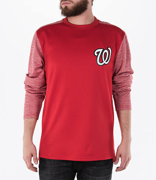 Men's Majestic Washington Nationals MLB Tech Long-Sleeve Fleece Jacket