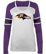 Women's New Era Baltimore Ravens NFL Long-Sleeve Tri-Blend V-Neck