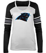 Women's New Era Carolina Panthers NFL Long-Sleeve Tri-Blend V-Neck