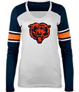 Women's New Era Chicago Bears NFL Long-Sleeve Tri-Blend V-Neck