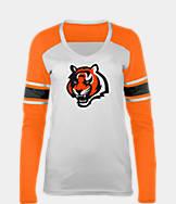 Women's New Era Cincinnati Bengals NFL Long-Sleeve Tri-Blend V-Neck