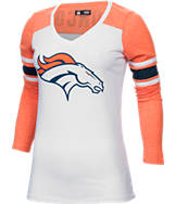 Women's New Era Denver Broncos NFL Long-Sleeve Tri-Blend V-Neck