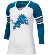 Women's New Era Detroit Lions NFL Long-Sleeve Tri-Blend V-Neck