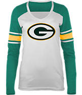 Women's New Era Green Bay Packers NFL Long-Sleeve Tri-Blend V-Neck