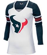 Women's New Era Houston Texans NFL Long-Sleeve Tri-Blend V-Neck