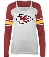 Women's New Era Kansas City Chiefs NFL Long-Sleeve Tri-Blend V-Neck