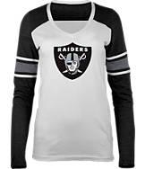 Women's New Era Oakland Raiders NFL Long-Sleeve Tri-Blend V-Neck
