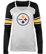 Women's New Era Pittsburgh Steelers NFL Long-Sleeve Tri-Blend V-Neck