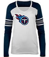 Women's New Era Tennessee Titans NFL Long-Sleeve Tri-Blend V-Neck