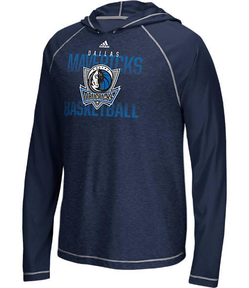 Men's adidas Dallas Mavericks NBA Long-Sleeve Fade Away Hooded Shooter Shirt