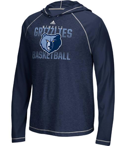 Men's adidas Memphis Grizzlies NBA Long-Sleeve Fade Away Hooded Shooter Shirt