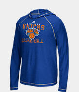 Men's adidas New York Knicks NBA Long-Sleeve Fade Away Hooded Shooter Shirt