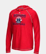 Men's adidas Washington Wizards NBA Long-Sleeve Fade Away Hooded Shooter Shirt