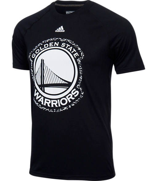 Men's adidas Golden State Warriors NBA Composition Pattern T-Shirt