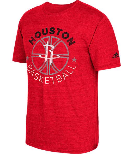 Men's adidas Houston Rockets NBA Double Dribble Short-Sleeve T-Shirt