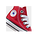 Front view of Kids' Toddler Converse Chuck Taylor Hi Casual Shoes in Red
