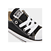 Front view of Boys' Toddler Converse Chuck Taylor Ox Casual Shoes in Black