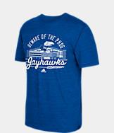 Men's adidas Kansas Jayhawks College Traditional Tri-Blend T-Shirt