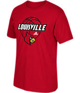 Men's adidas Louisville Cardinals College Touch Of Grey T-Shirt